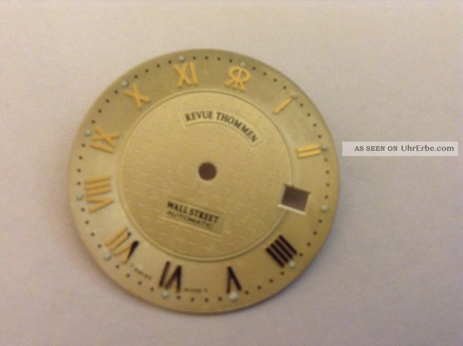 Revue Thommen Wall Street Automatic Zifferblatt Armbanduhren Bild