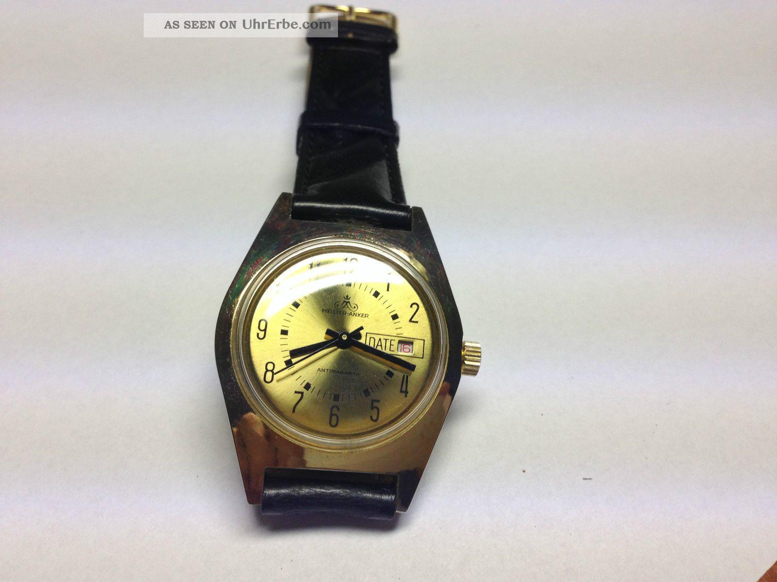 Meister Anker Herren Armband Uhr,  Handaufzug,  Top (2) Armbanduhren Bild