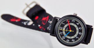 Pallas Kinderarmbanduhr Schwarz Totenkopf Armbanduhr Kinder Uhr 7983.  16.  16 Bild