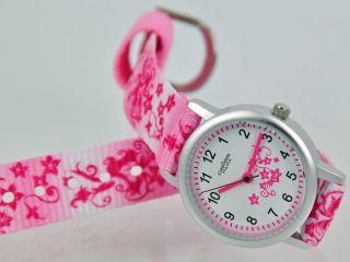 Pallas Kinderarmbanduhr Pink Mit Stoffband Armbanduhr Uhr 7171.  11.  30 Bild