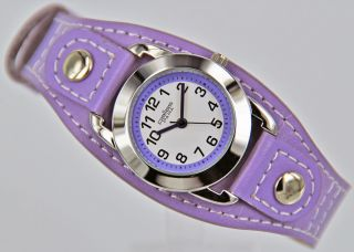 Pallas Kinderarmbanduhr Lila Mit Leder Armband Armbanduhr Uhr 7724.  78.  12 Bild