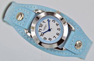 Pallas Kinderarmbanduhr Blau Mit Leder Armband Armbanduhr Uhr 7724.  78.  14 Bild