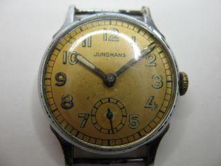 Junghans - Herrenuhr - Kal.  J80 Mit 15 Steine - 30er Jahre - Läuft Einwandfrei Bild