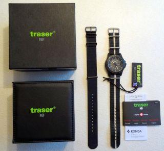Traser P6600 Sand Mit Nato - Armband,  Schwarz,  Militäruhr,  Saphierglas,  H3 Uhr Bild