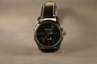 Armbanduhr Quarz Herrenuhr Lederamband Trend Watch Analoguhr Schwarz Weihnachten Bild