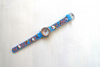 Kinderuhr Armbanduhr Qartz Süße Bienen Blau Kinder Armbanduhr Bild