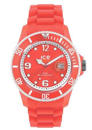 Ice - Watch Kinder,  Damenuhr,  Datum,  Quarzuhr Silikon Si.  Cor.  U.  S.  13 Coral Unisex Bild