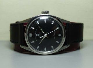 Favre Leuba Seaking Geneve Handaufzug Stahl Uhren Watch H512 Antique Bild