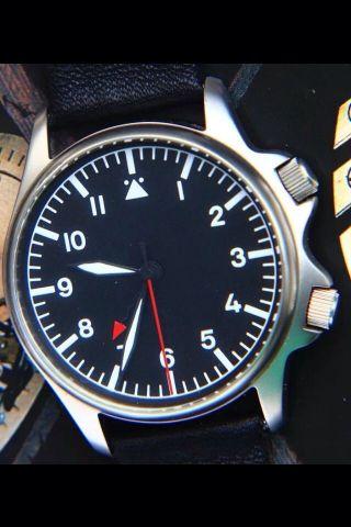 Poljot Aviator Fliegeruhr Armbandwecker,  Militärstil,  Mechanischer Alarm Top Bild