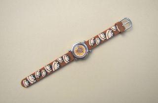 Kinderuhr Armbanduhr Quartz Süße Affengesichter Braun Kinderarmbanduhr Bild
