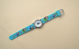 Kinderuhr Armbanduhr Quartz Bunte Engelchen Grün Kinderarmbanduhr Bild