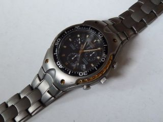 Titanium Edition Citizen Alarm Solar Eco - Drive Perpetual Calendar In Bi Color Bild