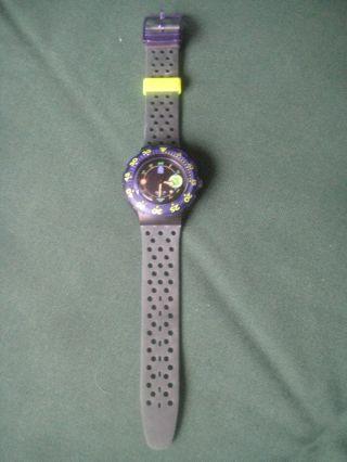"""Swatch Scuba 200""""captain Nemo"""" Sdb 101,  Taucheruhr,  1992,  Ungetragen Orig.  Box Bild"""