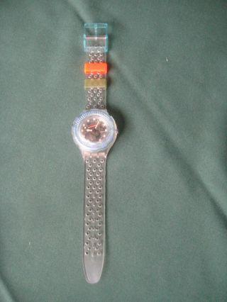 "Swatch Scuba 200""jelly Bubbles"" Sdk 104,  Taucheruhr,  1992,  Ungetragen Orig.  Box Bild"