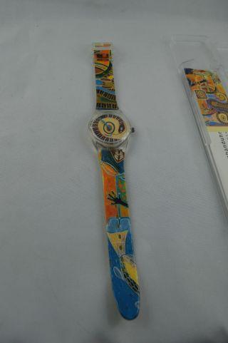 Künstler - Armbanduhr Zyklus Des Lebens Brot Für Die Welt Aborigine Zane Saunders Bild
