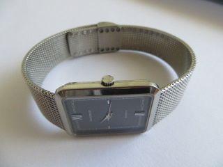 Elegante Dugena Schweiz Silber Herren Unisex Armbanduhr Quarz Armband Bild