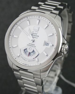 Tag Heuer Grand Carrera Chronometer Stahl/stahl Wav511b Ungetragen Bild