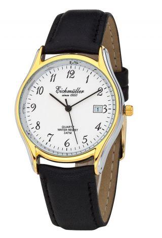 Klassische EichmÜller Uhr Herrenuhr Damenuhr Miyota Quarzuhr Datum - Bicolor Bild