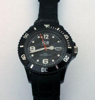 Ice - Watch Armbanduhr Sili - Forever Schwarz Herrenuhr Damenuhr Uhr Si.  Bk.  U.  S.  09 Bild