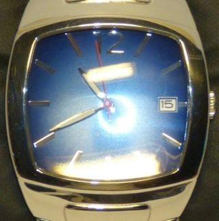 Guess Herrenuhr Armbanduhr Uhr 80245g3 Analog Blau Quarz Edelstahl Bild