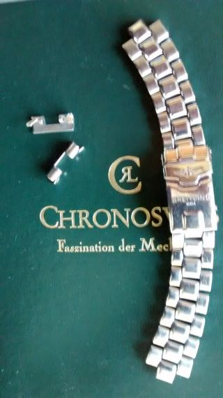 Breitling Colt Damen Armband Stahl Mit Faltschließe 16mm Bild