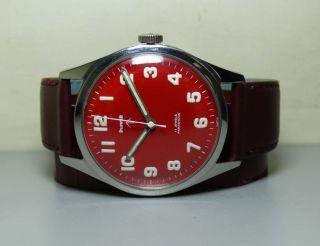 Herren Hmt Military Handaufzug 17 Lochsteine Gc13959 Stahl Uhren Watch H542 Bild