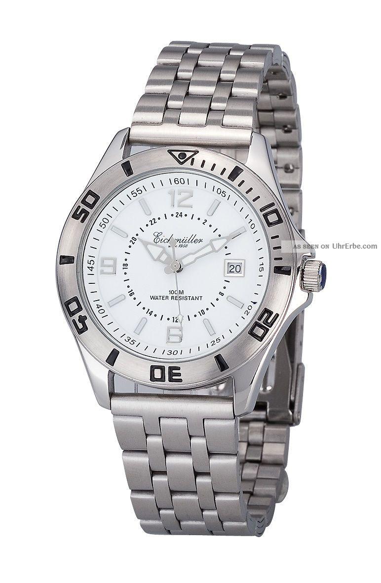 Schicke Eichmüller Herrenuhr Edelstahl Im Top Design 10 Atm Mit Datum Ansehen Armbanduhren Bild