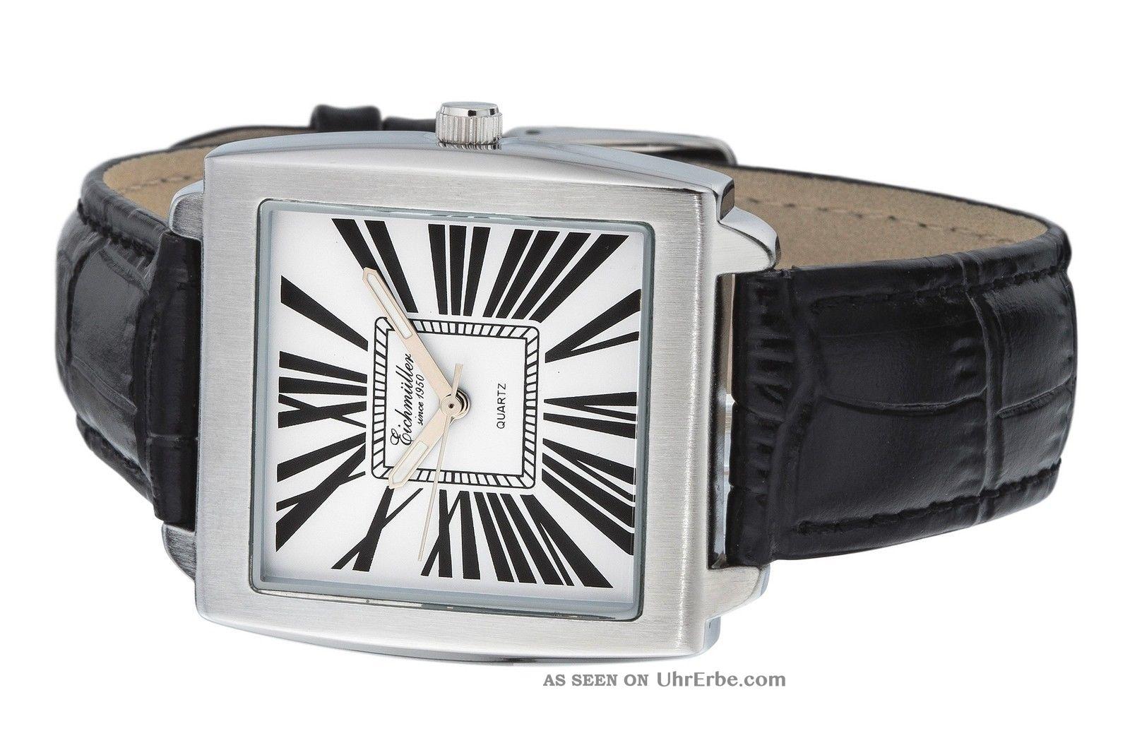 Schicke Eichmüller Herrenarmbanduhr 35 Mm Klassische Note Weisses Zifferblatt Armbanduhren Bild