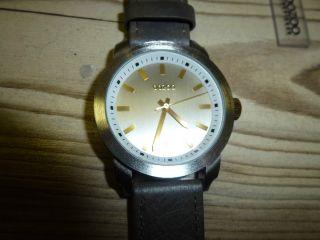 Oozoo Armbanduhr Uhr Modisch Und Sporty,  Leder Band Grau Gross Bild