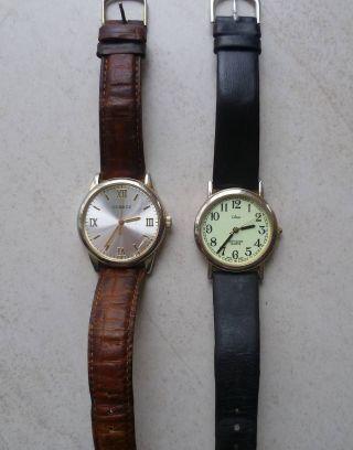 Zwei Herren Armbanduhren,  Batterie Bild