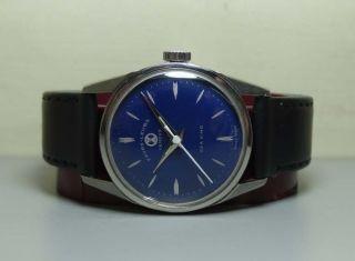 Favre Leuba Seaking Geneve Handaufzug Stahl Uhren Watch H511 Blau Bild