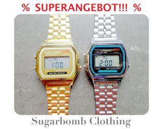 Digitaluhr Armbanduhr Gold Silber Uhr Sport Blogger Schmuck Geschenk Weihnacht Bild