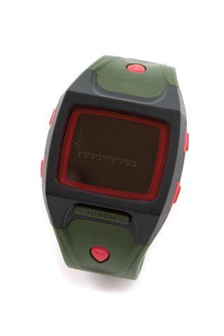 Nixon Small Lodown Armbanduhr,  Surplus/black/red _93050 Bild