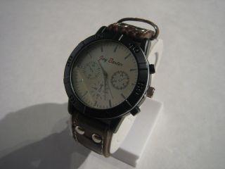 Jay Baxter - Xl Herren Uhr Armbanduhr Echt Lederarmband Braun Analog - A2021 Bild
