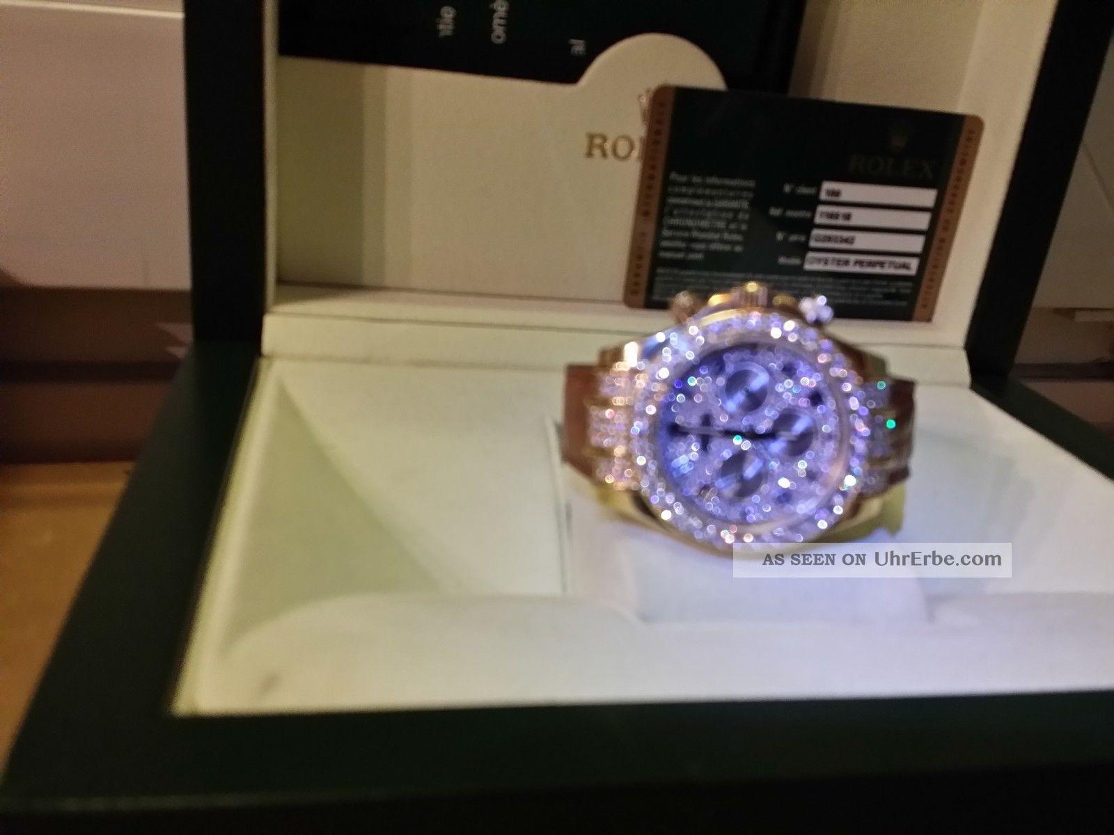 rolex daytona deutsche auslieferung von 2012 18k gg gold diamanten diamond. Black Bedroom Furniture Sets. Home Design Ideas