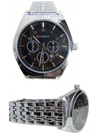 Uhr Armbanduhr Mit Datum,  Wasserdicht,  Metallarmband Glanz - Edelstahl Bild