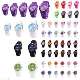 Sv24 Silikon Uhr Armbanduhr Watch Damen Herren Quarz Uhren Farbwahl Modellwahl Bild