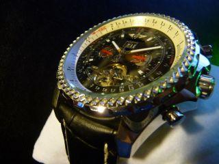 Armbanduhr Herren Mechanik Automatik Chronometer Uhr Skeleton Wie Top Bild