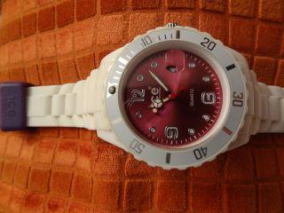 Ice Watch,  Weiß/pink (fuchsia),  Und Ungetragen,  Silikonarmband Bild