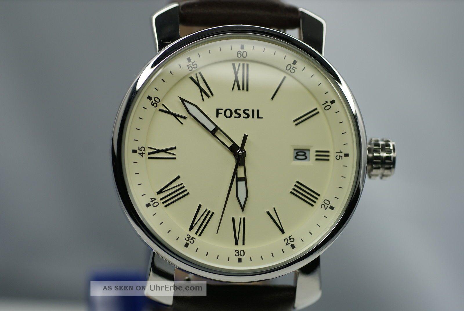 fossil herrenuhr bq1016 rhrett top uhr braunes. Black Bedroom Furniture Sets. Home Design Ideas