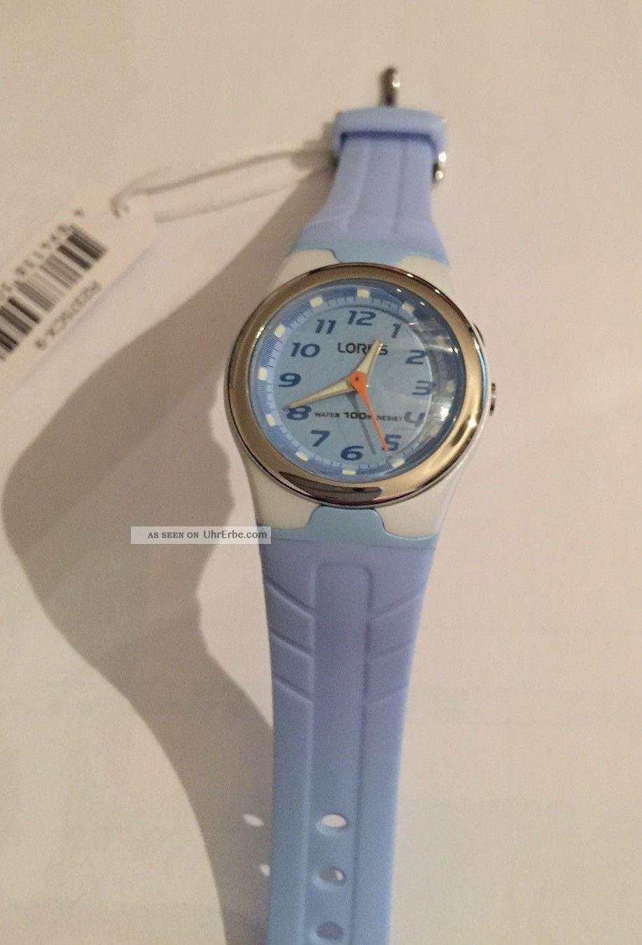Kinderuhr Lorus R2375cx - 9 Grau / Hellblau Kunstoffband Armbanduhren Bild