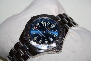 Breitling Superocean A17040 Automatic Blaues Ziffernblatt Edelstahl Armband 41mm Bild