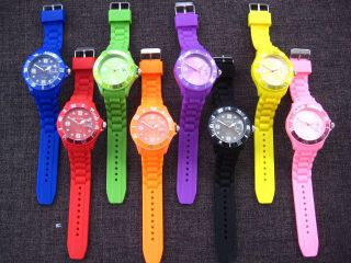 Sanda Armbanduhr Silikon Uhr Damen Herren Silikonuhr Mit Datum,  Ersatzbatterie Bild