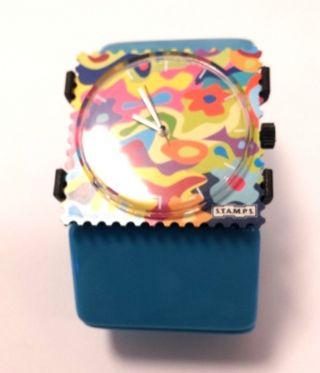 S.  T.  A.  M.  P.  S - Uhr - Flower Smoothie,  Armband Belta Hell Blau Bild