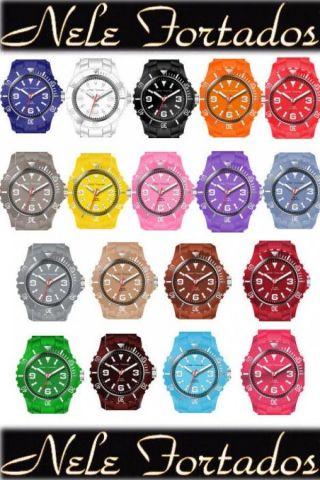 Silikon Armbanduhr Nele Fortados Trend Damen Herren Uhr Bild