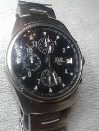 Herrenuhr Chronograph Quarz Analog Bild