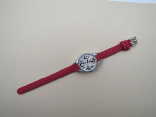 Kinderuhr Armbanduhr Youngster Quarz Jeansband Rot Jugenduhr Bild