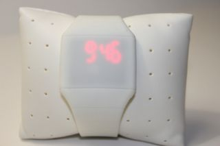 Weiß Digital Led Touch Screen Uhr Mit Silikonarmband Weiß Bild
