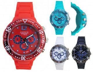 Silikon Uhr Damen/herren Bunte Gummi - Armbanduhr Geshloßene Boden Hautfreundlich Bild
