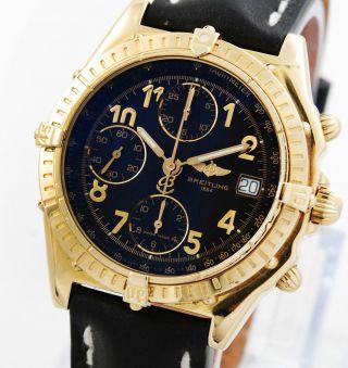 Breitling Chronomat K13350 - 331 18karat Gold Mit Box Und Papieren Herrenuhr Bild